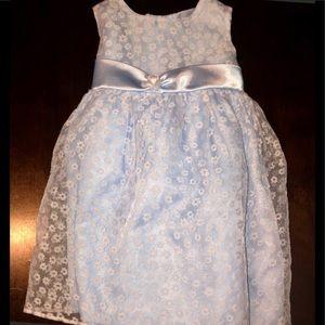 GEORGE Baby Girl Sleeveless Blue Dress Sz 18 Month